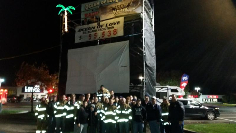 Toms River Fire Departments Donate To Ocean Of Love