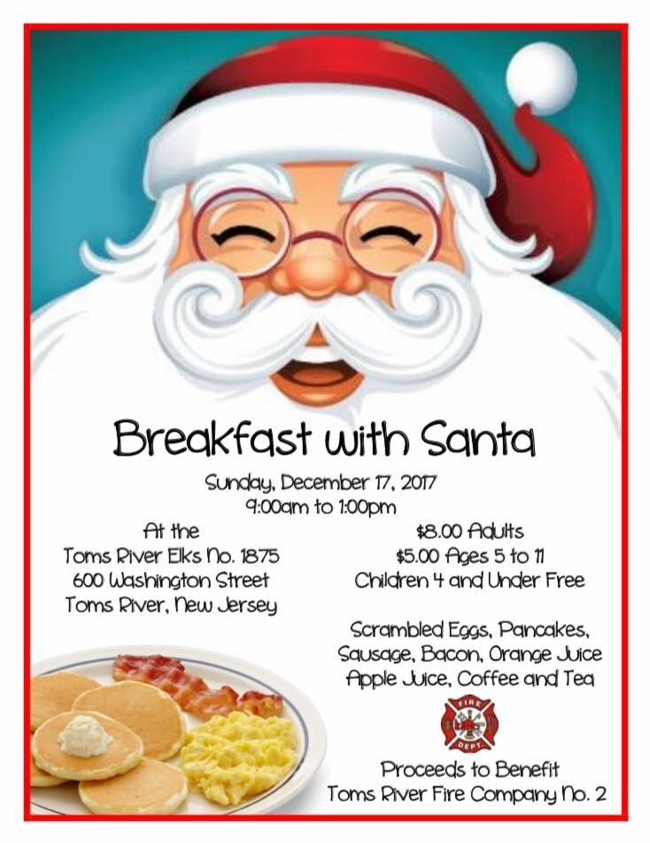 TRFC#2 BREAKFAST WITH SANTA FUNDRAISER!!!!!!